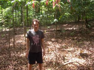 Knee-deep in snake habitat