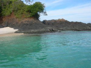 Deserted island in the Pacific we spent a day at