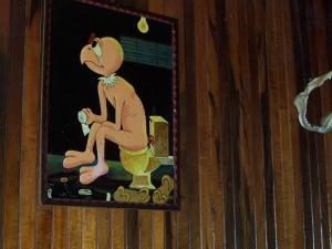 Creepy decor in the 'Shining'-room in Cerra Punta