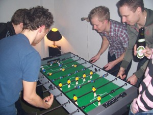 Gays' limp, energetic wrists make them excellent foosball players. Not many people know that.
