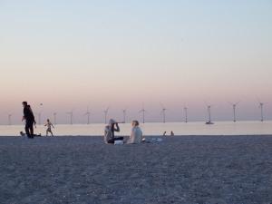 Typical Danish beach scene