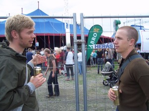 """We were the only people drinking outside. """"It's OK ... we're Danish"""""""