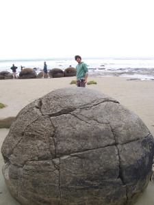 You do weird things on vacation, like driving two hours to see a rock...
