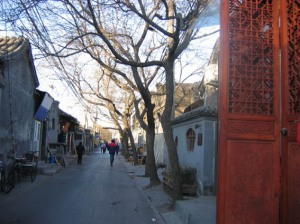 Beijing is mostly wide boulevards and towering residentoliths