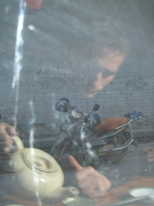 And played with reflections in the teahouse window