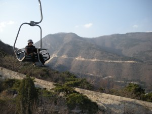 We took the lazy-chair to the top of the mountain