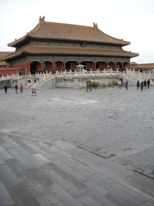 We're glad we visited the Forbidden City on a weekday, so we didn't have to Photoshop out tourists