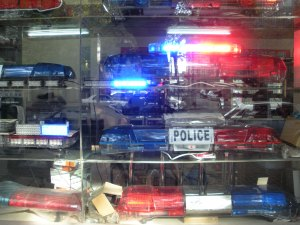 We have army surplus stores, they have police surplus stores