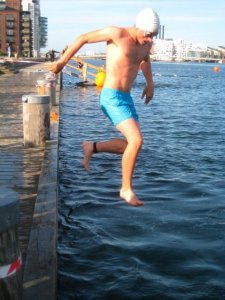 Here's where I jumped in the water for the first leg
