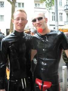 These guys paid 300 euro each for the suits, they told me. 'And they'll last for years'.