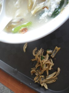 I kept picking the anchovies out of my soups. Bad foreigner!