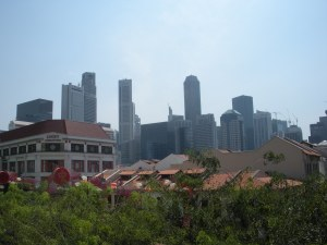 These roofs are left over from when Singapore was an actual place.