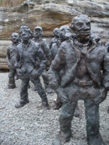 Here's a cool statue exhibition at Bondi Beach.