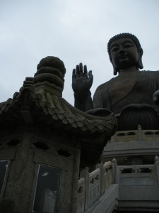 This is apparently the biggest Buddha in Asia. Not that I have anything to compare it to.