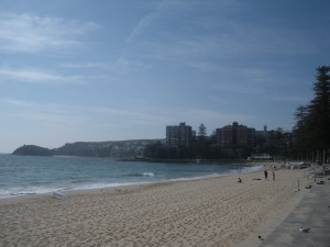 Here's Manly Beach at 8 in the morning.