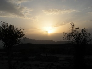 The sunset happens really fast near the equator