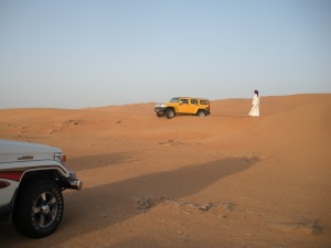The bedouin and the humvee. It's like the title of a Tom Friedman book.