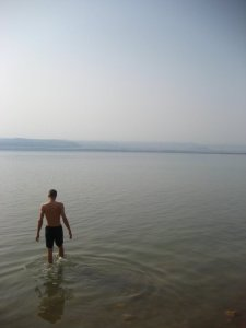 The dead sea. You only float if you lie down, Anders.
