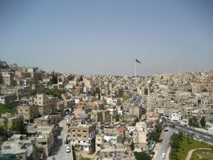 Amman, Jordan. Anders hated it, but I thought it was a nice little stopover.