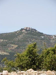 Next, we checked out a 1500-year-old castle above the promised land.