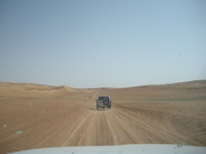 The destination was Wahiba Sands, a sandbox roughly the size of Belgium