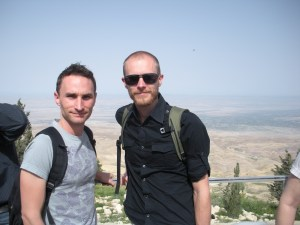 The highest mountain in Jordan overlooks the lowest place on earth