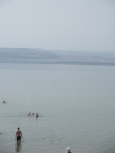 The Dead Sea! Anders went in first.