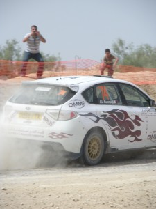 We accidentally caught the tail end of a rallycar championship